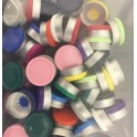 20mm Superior Flip Cap Vial Seals Sample Pack, 3 Pieces Each Color
