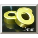 13mm Open Hole Punched Vial Seals, Pk of 100, Gold